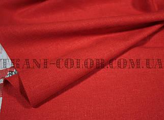 Ткань лён стрейч красный