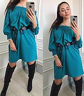 """Платье женское эксклюзивное с ремнем, размеры 44-50 (4 цвета) Серии """" MONICA """" купить оптом в Одессе на 7 км"""