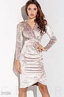 Платье-футляр женское Мраморное светло-розовое