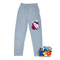 Детские спортивные штаны (весна) декорированные пайетками, для девочки 9-12 лет (4 ед в уп)