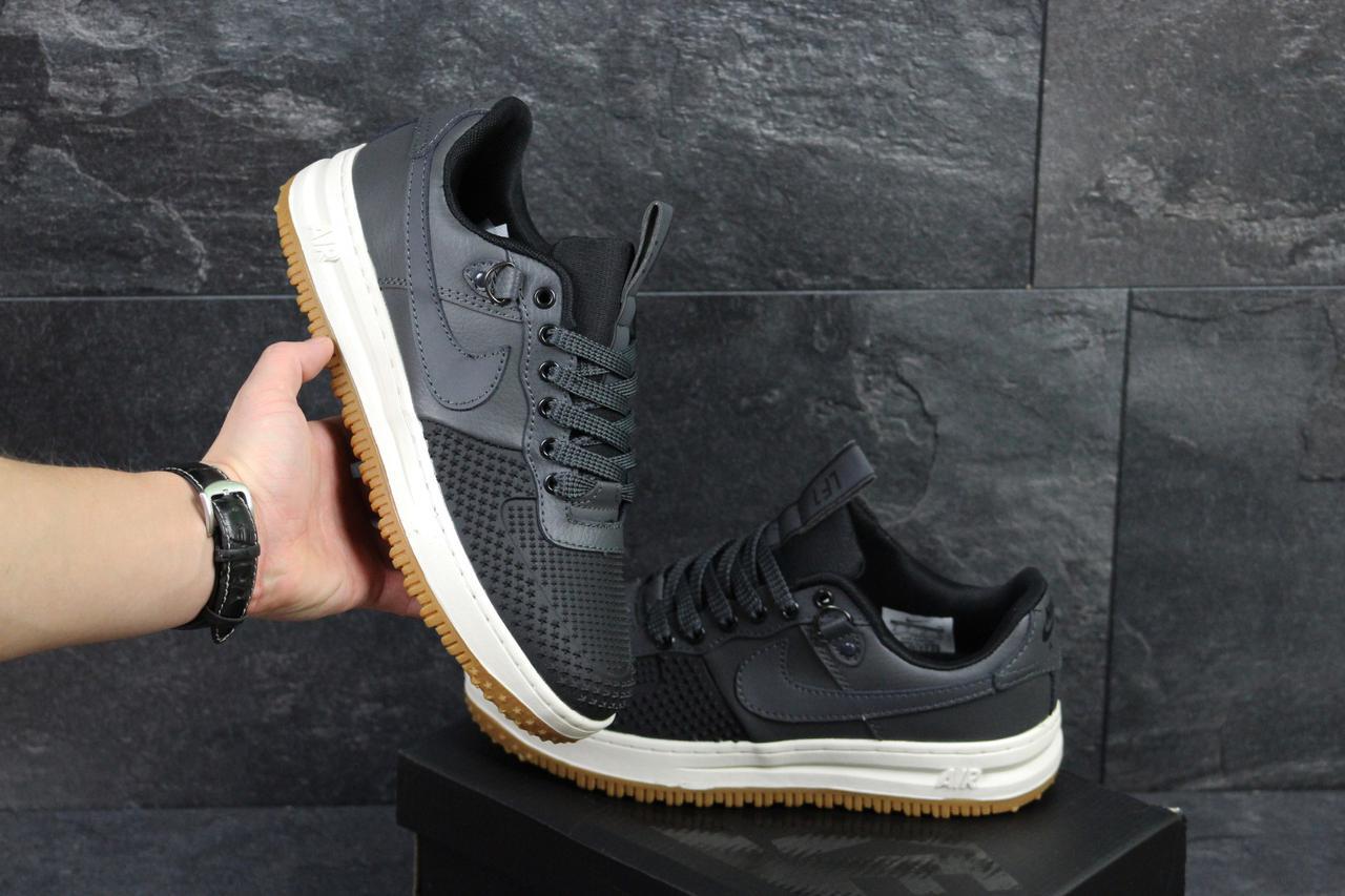 grossiste 64e70 875b3 Nike Lunar Air Force LF1 в фирменных коробках серые черным (Реплика ААА+) -  купить по лучшей цене в Украине от компании