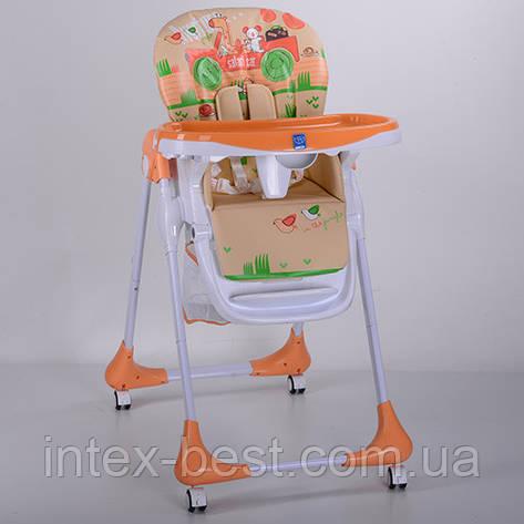 Детский стульчик для кормления Bambi (M 3234-5) Оранжевый, фото 2