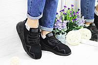 Кросівки жіночі Adidas Equipment adv 91-17 (чорні), ТОП-репліка, фото 1