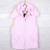 """Детская демисезонная жилетка """"Lady"""" для девочек. 2-6 лет. Светло-розовая. Оптом., фото 1"""
