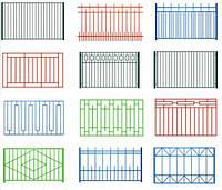 Секционный металлический забор | Цена на секционные металлические секционные заборы от производителя