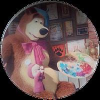 """Вафельная картинка """"Маша и медведь № 3"""", диаметр 20 см"""