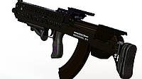 """Буллпап АК 47/74 """"Black Storm BS-3"""", тактический обвес АК, АКМ, АКС, АКМС схемы Bullpup, Украина"""