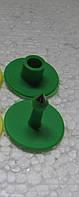 Бірка вушна кругла D 30 мм зелена