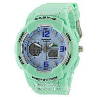 Спортивные женские часы Casio Baby G BGA-230 G Green Blue (кварцевые)