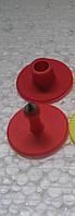 Бірка вушна кругла D 30 мм червона