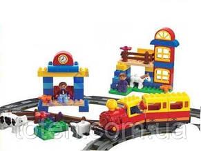 """Конструктор железная дорога 6188B """"Волшебное путешествие"""". Cвет, звук, 95 деталей."""