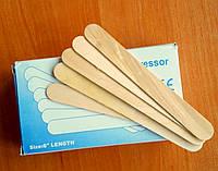 Шпатель дерев'яний для воска (100 шт./уп), одноразовые шпатели для воска