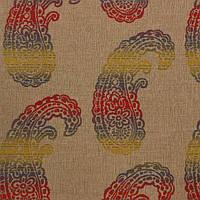 Жаккардовая ткань для штор и декора SANTA CLARITA-7100-001 с орнаментом пейсли