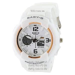 Спортивные женские часы Casio Baby G BGA-230 G White-Gold (кварцевые)