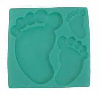 Силиконовый молд Детские ножки 11х11 см