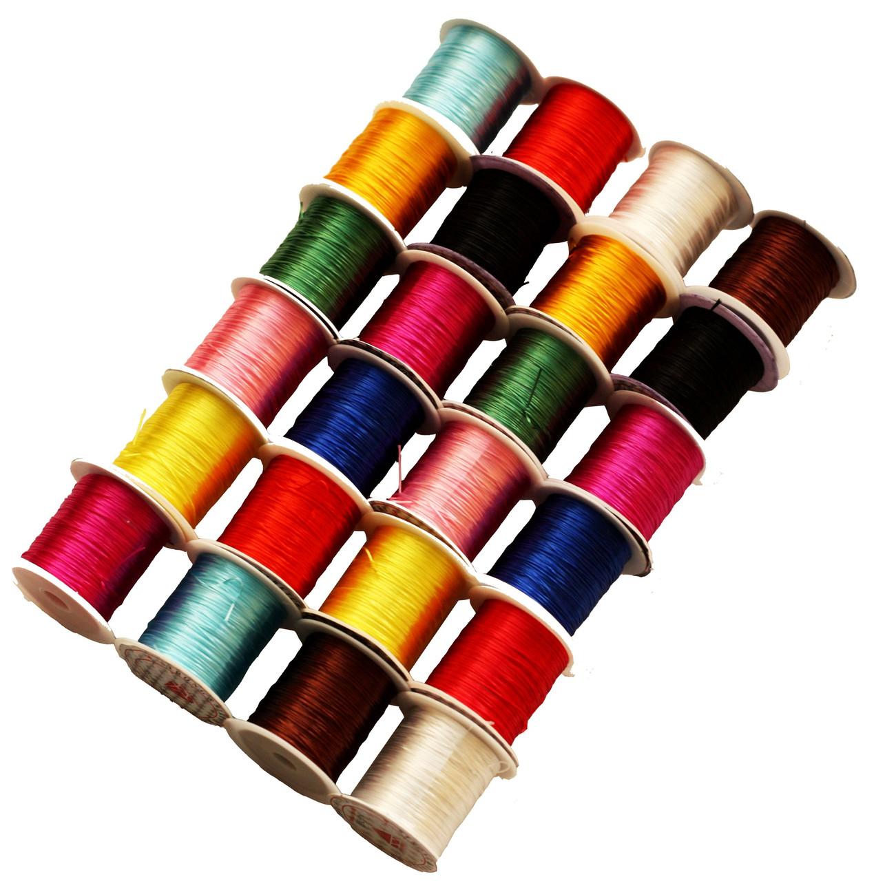 Нитки Силиконовые для рукоделия (25 катушек) цветные ассорти