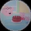 """Вафельная картинка """"Свинка Пеппа № 2"""", диаметр 20 см"""