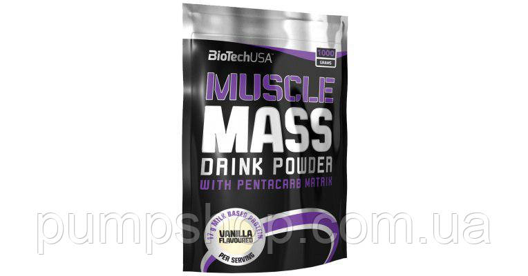 Гейнер BioTech USA Muscle Mass - 4000 грамм, фото 2