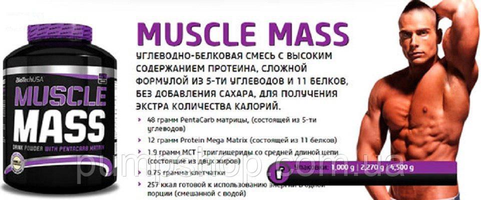 Гейнер BioTech USA Muscle Mass - 1 кг, фото 2