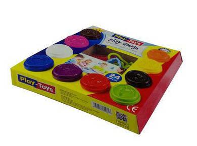 Масса для лепки + формочки, 10 цветов х 50гр, Play Dough РТ2317