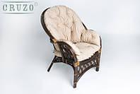 Кресло CRUZO Копакобана натуральный ротанг коричневый
