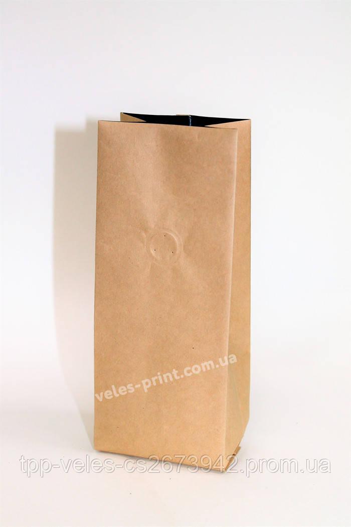 Пакет с центральным швом и дегазирующим клапаном 1 кг Крафт 135*360 (35+35)