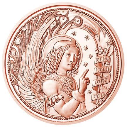 Австрия 10 евро 2017 г. Архангел Гавриил , UNC.