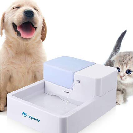 Водяной диспенсер дозатор для животных с фильтром, фонтаном и освещением isYoung, фото 2
