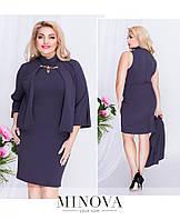 Стильное женское платье с жакетом с 48 по 54 размер