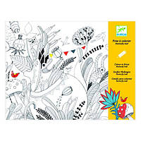 DJECO Художественный комплект  для рисования разукрашка Бал бабочек
