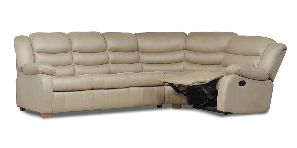 Кожаный диван реклайнер Ashley