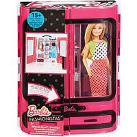 Барби Мода и Красота Шкаф-чемодан для одежды Барби обновленный
