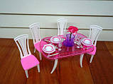 Кукольная мебель Глория Gloria 24011 Стильная красивая столовая Леди, фото 2