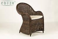 Кресло CRUZO Сейшелла натуральный ротанг коричневый