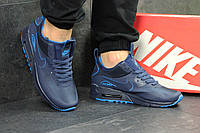 Мужские кроссовки  Nike Air Max 90 (синие), ТОП-реплика, фото 1