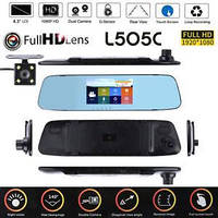 """Видеорегистратор-зеркало 4.3"""" сенсорное с двумя камерами L505C"""