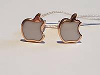 Золотые серьги-пуссеты с эмалью. Артикул 500036Е, фото 1