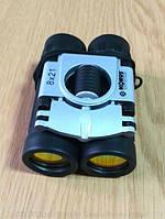 """Компактный бинокль Konus Basic 8x21 с """"рубиновым покрытием"""" оптики"""