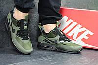 Мужские кроссовки  Nike Air Max 90 (зеленые), ТОП-реплика, фото 1