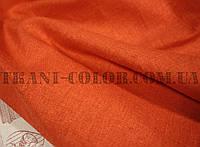 Ткань лён стрейч оранжевый