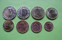 Люксембург , набор евро монет 2018 г , UNC.
