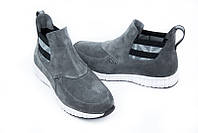 Ботинки мужские Gross демисезонные замшевые серые Gr0003