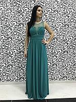 Шифоновое женское вечернее платье