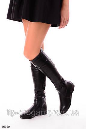 Женские сапоги на плоской подошве! в наличии! новые! 36-39 р!, фото 2