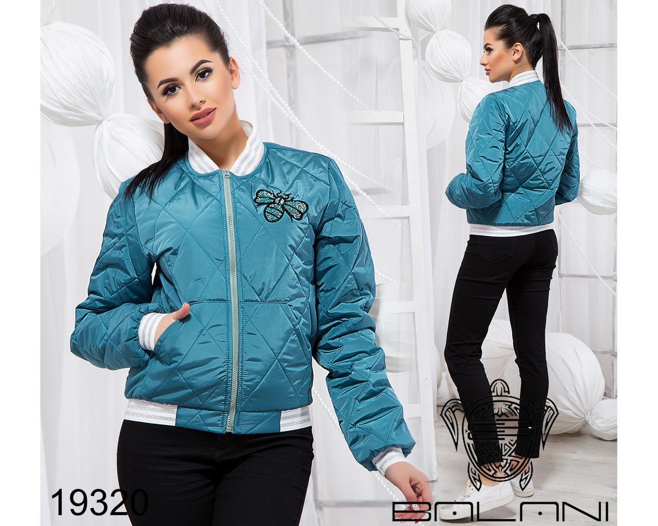 Стильная короткая куртка - 19320