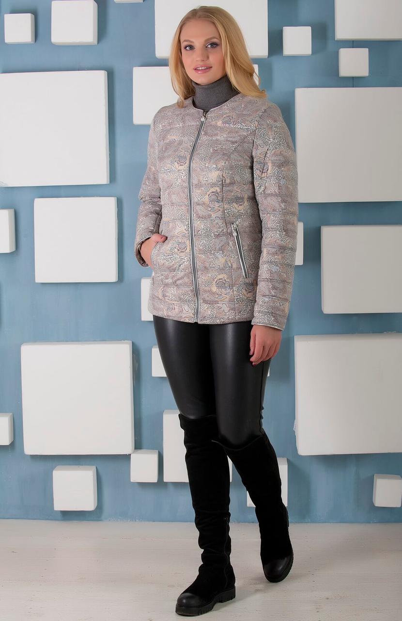 Короткая куртка с воротником в стиле Шанель