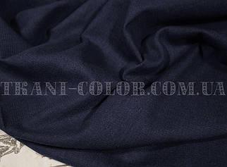 Ткань лён стрейч темно-синий