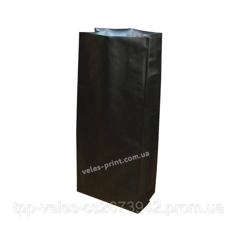 Пакет с центральным швом 250 г Черный 80*250 (30+30)