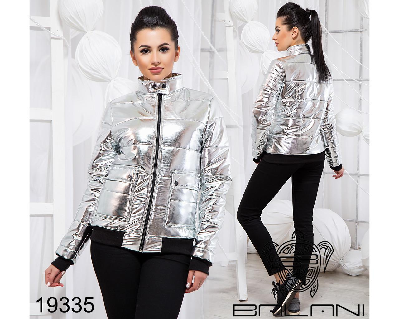 Стильная куртка из экокожи - 19335