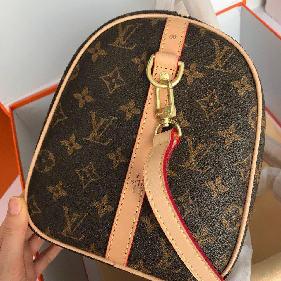371903fd034c ... Сумка Louis Vuitton Луи Витон Speedy, 30 см, канва Monogram, кожаная  реплика, ...
